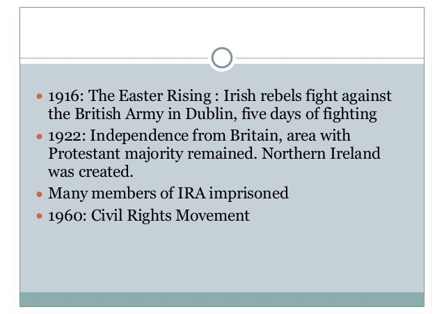 a history of the irish british conflict Easter rising 1916: six days of armed struggle that changed irish and british history for the aims of the irish parliamentary party and the british war.