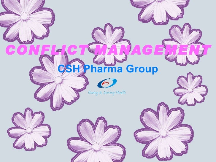 CONFLICT MANAGEMENT CSH Pharma Group