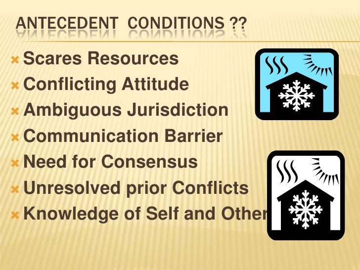 IDENTIFICATION OF CONFLICT.