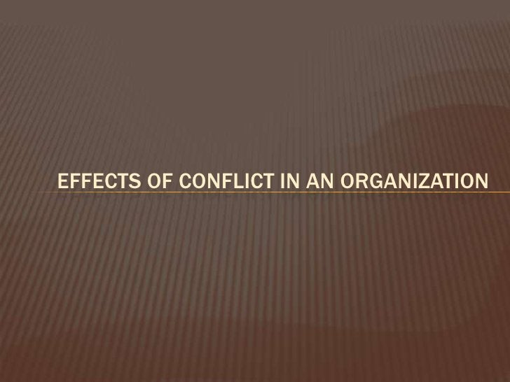 BUT CONFLICT IS NEEDED…..