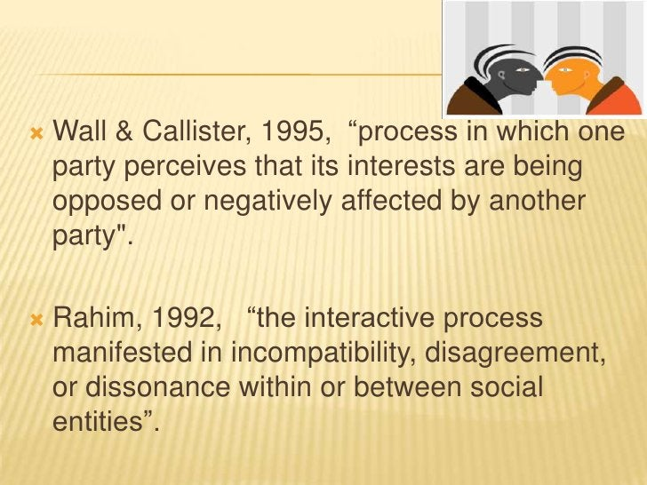 THEREFORE CONFLICT IS ????   1.WITHIN ( personal individualistic can lead to    frustration and depression if not managed...