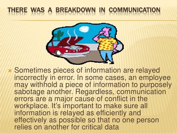 EFFECTS OF CONFLICT IN AN ORGANIZATION