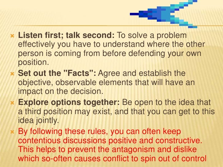 STEP.4      BRAINSTORM POSSIBLE SOLUTION   If everyone is going to feel satisfied with the    resolution, it will help if...