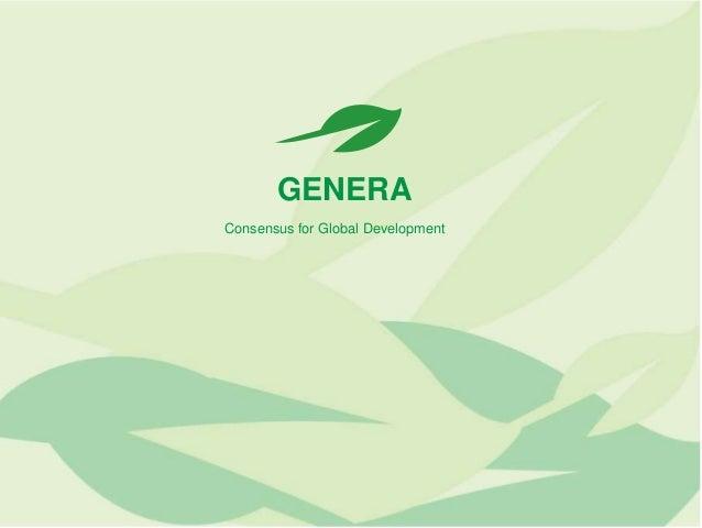 GENERA Consensus for Global Development
