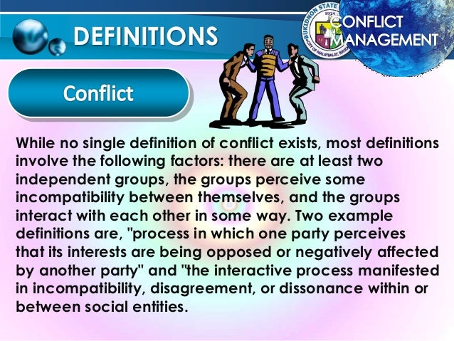 the definition of conflict The legal definition of conflict of interest is a personal interest that conflicts with a public or fidiciary interest.