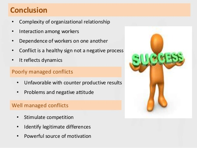 conflict conclusion Find out how to troubleshoot conflict in your meeting  if so, you can appreciate  the benefits of working through your differences to a satisfactory conclusion.