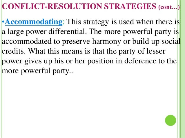 Accommodating strategy definition