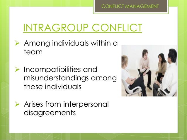 Intragroup conflict and interpersonal conflict