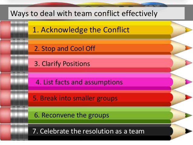 The Five Steps to Conflict Resolution