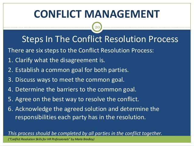 smart goal for conflict resolution