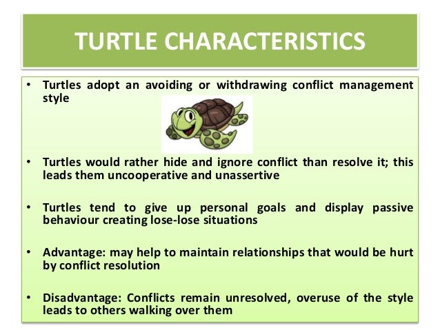 Advantages and disadvantages of accommodating conflict