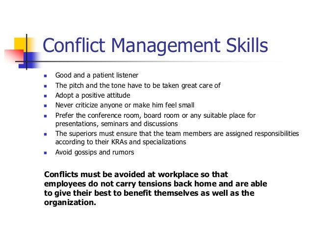 management conflict resolution in work teams essay This course will give participants a seven-step conflict resolution process that they can use and modify to resolve conflict disputes of any size an introduction to conflict resolution what is conflict virtual team building and management workplace essentials ($2990) appreciative.