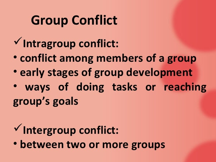 Intergroup conflict Essay Sample