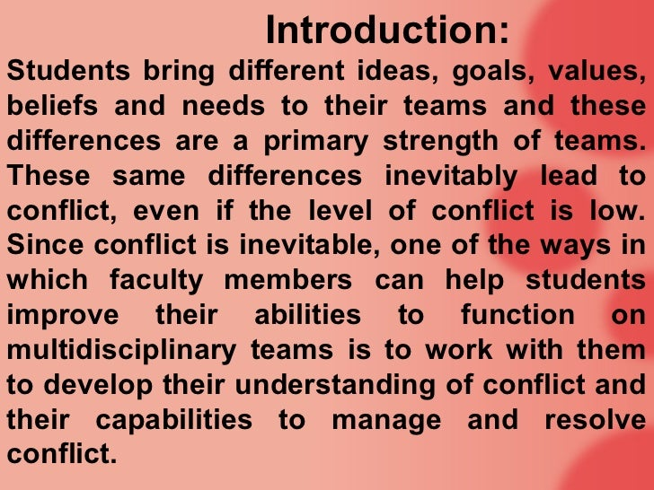 an introduction to conflict Introduction defining conflict sensitivity reaching a consensus on how to understand the notion of conflict sensitivity proved to be a challenging and crucial task for the consortium, particularly due to the malleable nature of conflict sensitivity across different sectors and contexts.