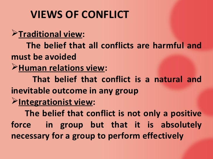 Conflict of views