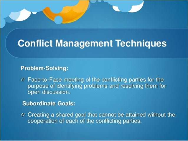 the importance of conflict management The practice of recognizing and dealing with disputes in a rational, balanced and effective way conflict management implemented within a business environment usually involves effective.
