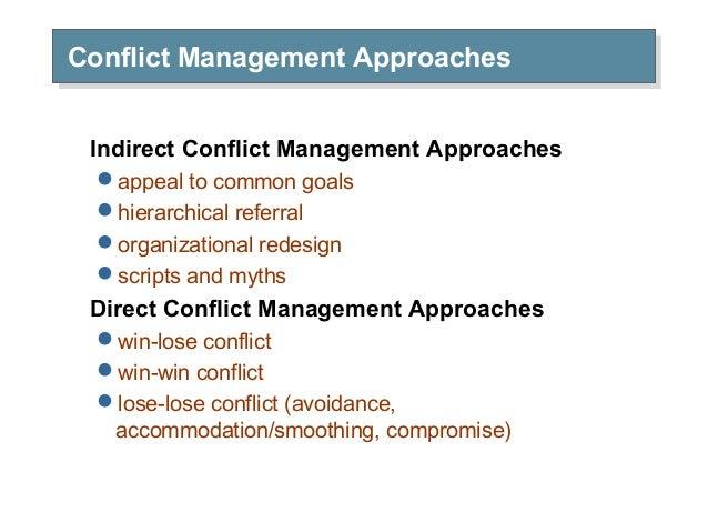 CONFLICT MANAGEMENT APPROACHES PDF