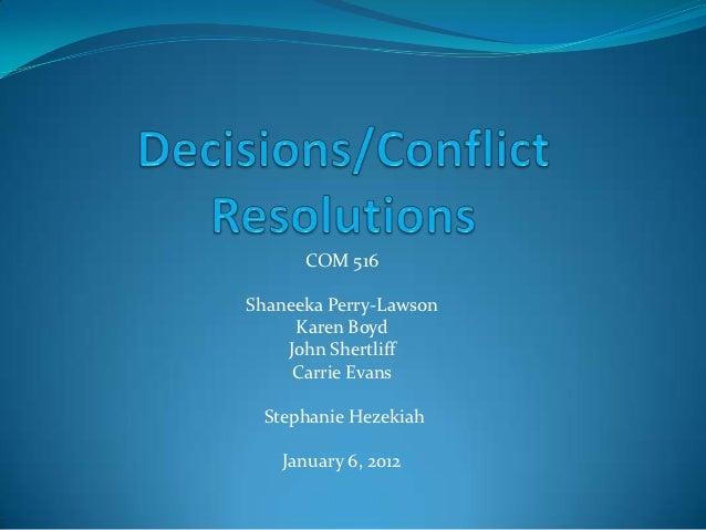 COM 516Shaneeka Perry-Lawson     Karen Boyd    John Shertliff     Carrie Evans Stephanie Hezekiah   January 6, 2012