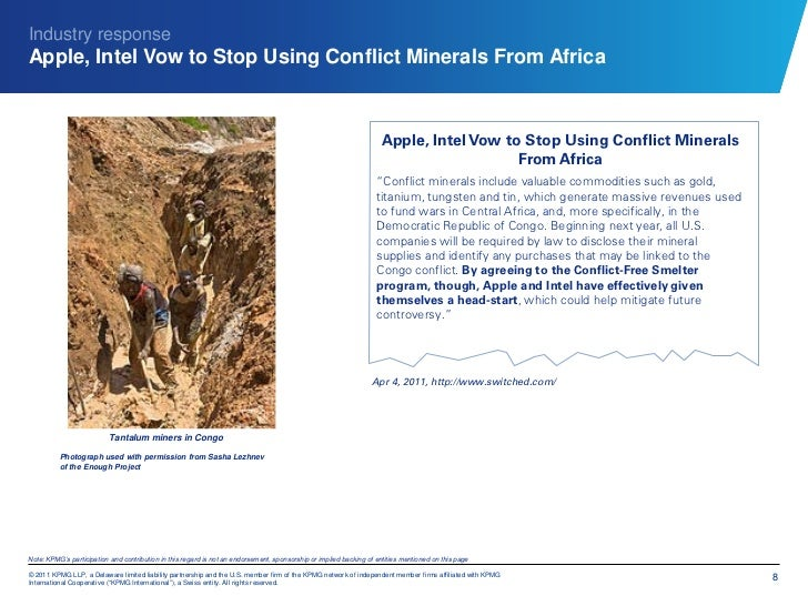 Industry responseApple, Intel Vow to Stop Using Conflict Minerals From Africa                                             ...