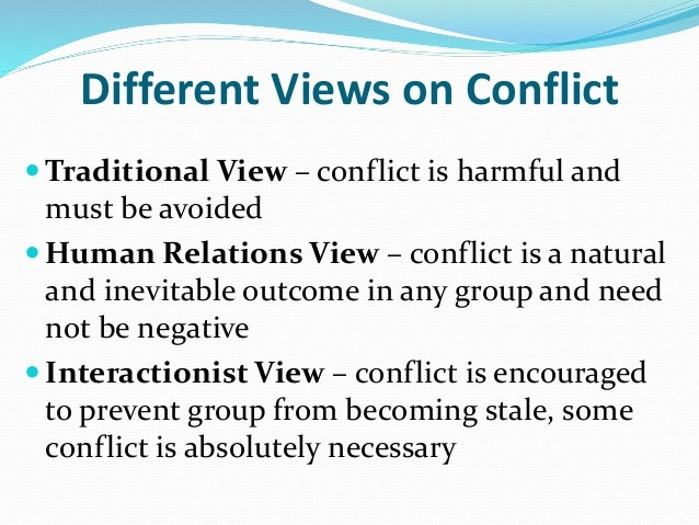 integrationist view of conflict