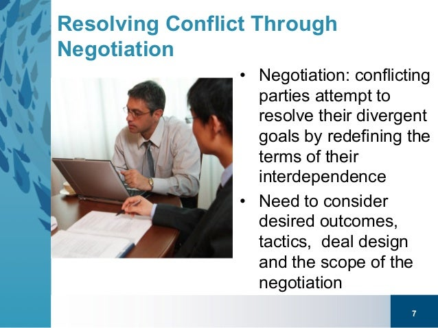 conflict and negotiations The online master's degree program in negotiation, conflict resolution and  peacebuilding at california university, dominguez hills teaches participants.