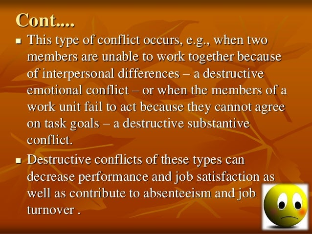substantive and emotional conflict How to defuse an emotional conflict chances are a conversation about a conflict will turn into a negative emotional spiral, thanks to our natural mimic reflex.