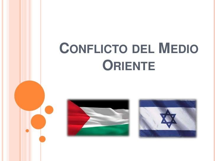 CONFLICTO DEL MEDIO      ORIENTE