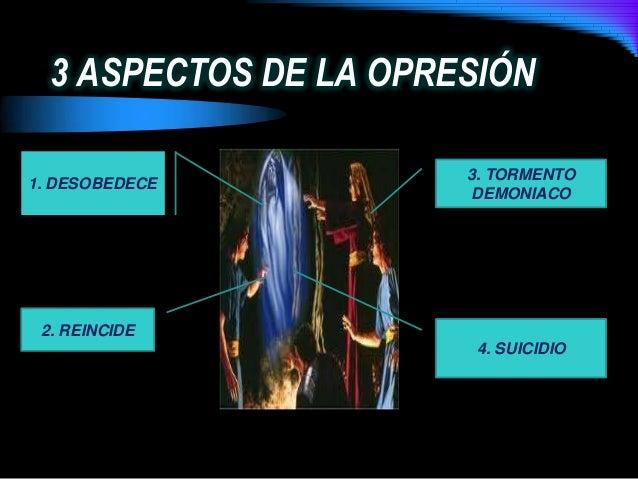 3 ASPECTOS DE LA OPRESIÓN1. DESOBEDECE2. REINCIDE3. TORMENTODEMONIACO4. SUICIDIO