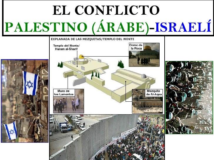 EL CONFLICTOPALESTINO (ÁRABE)-ISRAELÍ