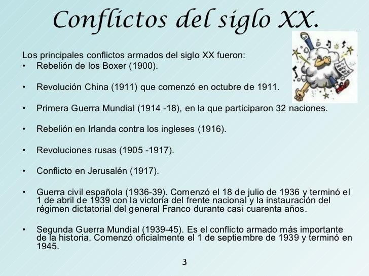 Conflictos actuales
