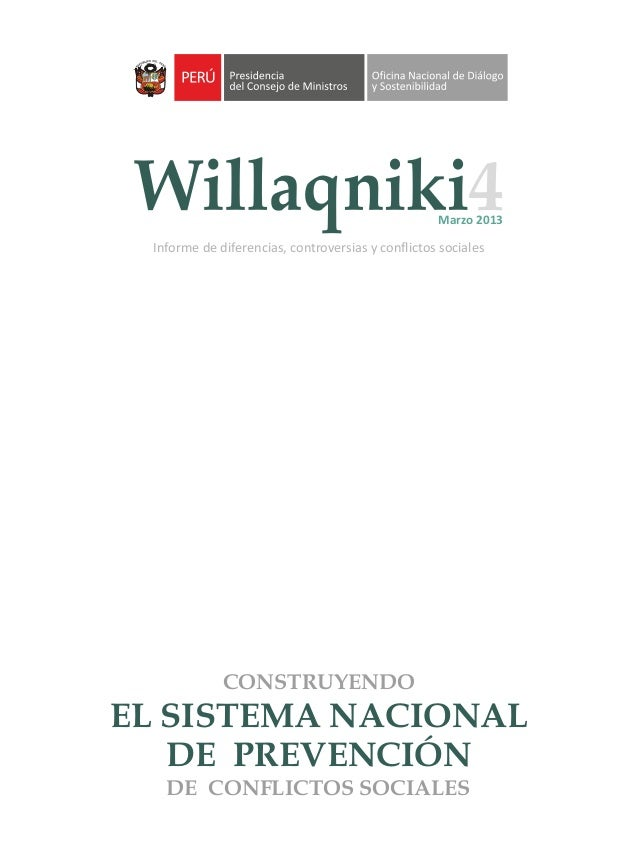 Willaqniki informe de diferencias controversias y for Oficina nacional de evaluacion