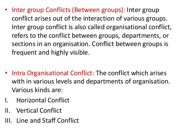intra group and intergroup processes Group conflict, or hostilities between different groups, is a feature common to all forms of human social organization (eg, sports teams, ethnic groups, nations, religions, gangs), and also occurs in.