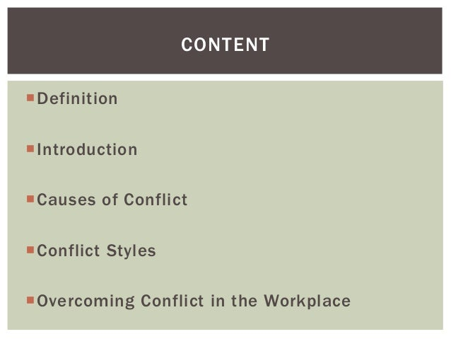 Conflict Resolution, Managing Conflict in the Workplace