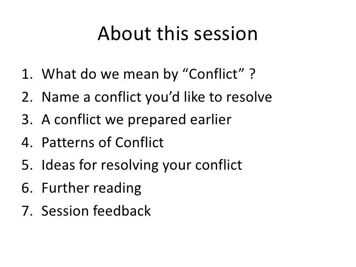Conflict Resolution Diagram Tutorial