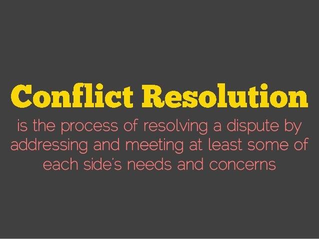 Conflict Resolution Strategies  Slide 2