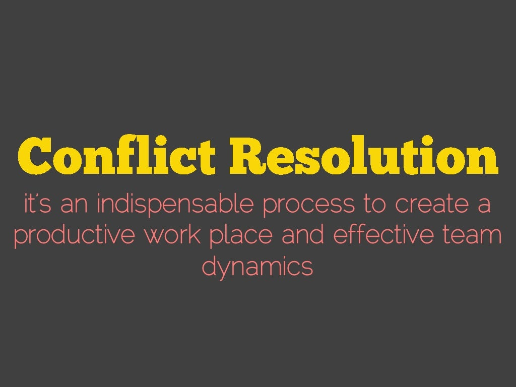 Manage Conflict and Resolve Problems by Negotiating