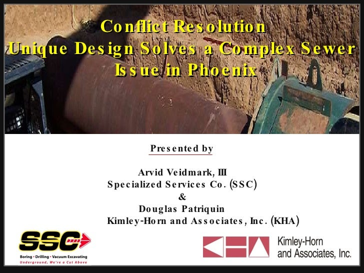 Conflict Resolution Unique Design  Solves a Complex Sewer  Issue in Phoenix Presented by Arvid Veidmark, III Specialized S...