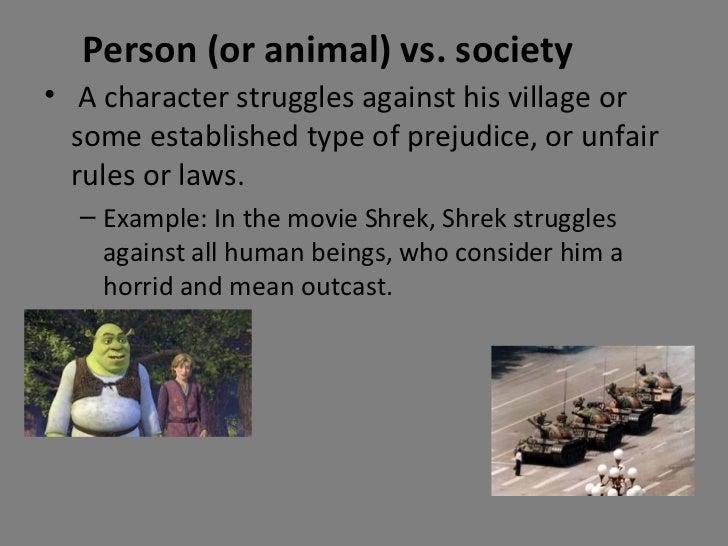 Man versus himself in the novel