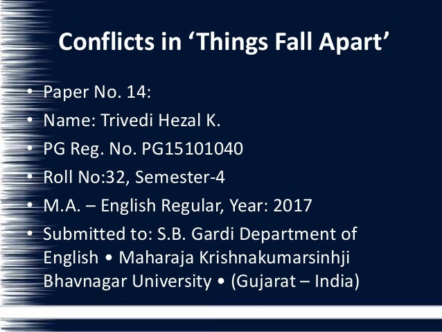 things fall apart conflict