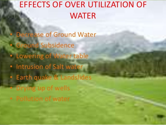 overutilization of natural resources