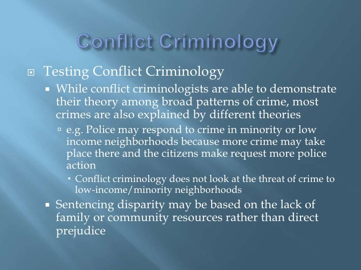 conflict theory and crime
