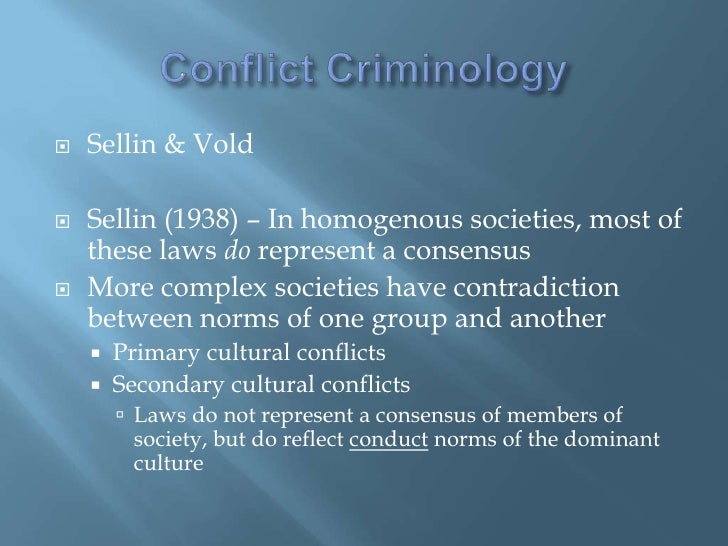 secondary culture conflict