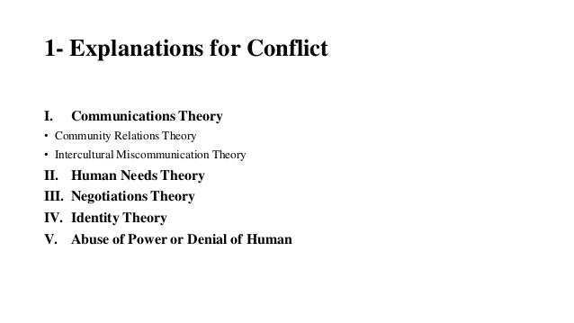 Conflict Theories by Abid Zafar