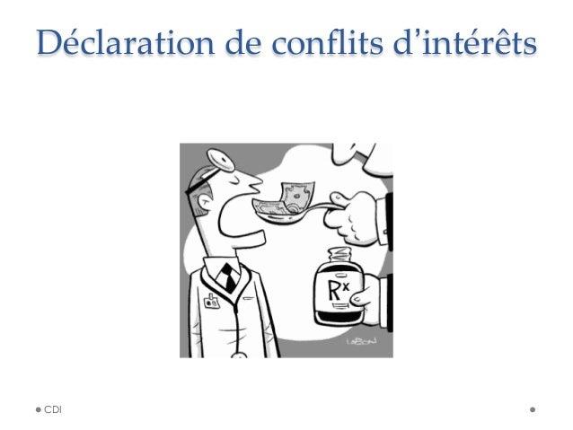 Déclaration de conflits d'intérêts CDI
