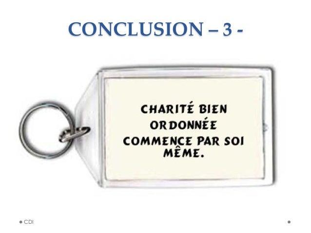 CONCLUSION – 3 -‐‑ CDI