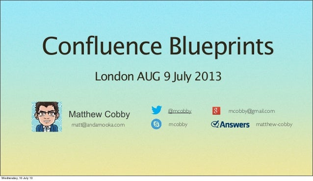 Introduction to confluence blueprints confluence blueprints mcobby mcobbygmail mcobby matthew cobby matthew cobby matt malvernweather Gallery