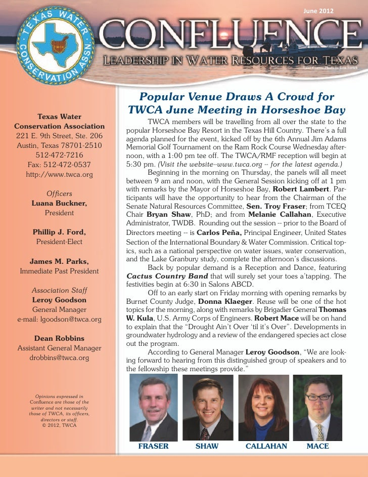 June 2012                                    Popular Venue Draws A Crowd for      Texas Water                             ...