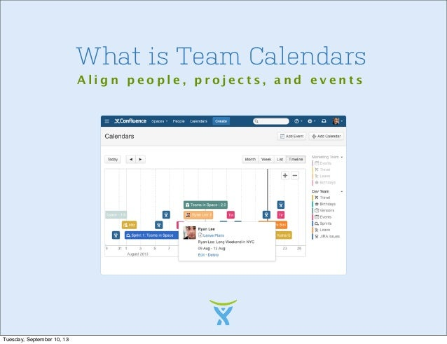 team calendars and confluence new features ryan anderson
