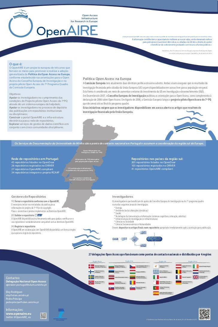 «O lançamento da OpenAIRE marca uma etapa muito concreta na partilha dos resultados da investigação financiada pela UE, pa...