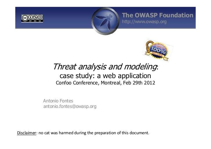 The OWASP Foundation                                                       http://www.owasp.org                  Threat an...